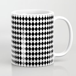 mini Black and White Mini Diamond Check Board Pattern Coffee Mug