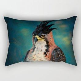 The ornate hawk-eagle is a bird of prey. Rectangular Pillow