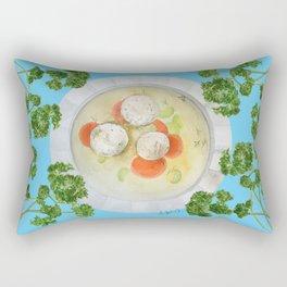 Passover Matzo Ball Soup (blue 2) Rectangular Pillow