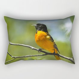 Orange Oriole Rectangular Pillow