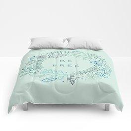 BE FREE - light blue Comforters