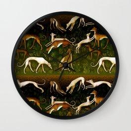 Sighthounds Wall Clock