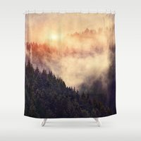 country Shower Curtains featuring In My Other World by Tordis Kayma