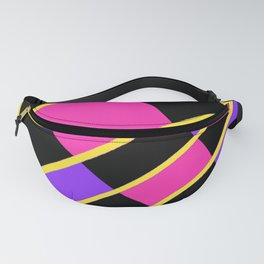 Block abstract bold design bright colors Fanny Pack