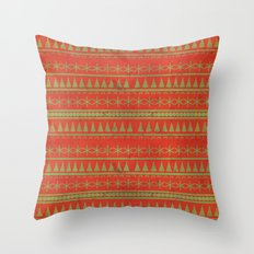 Dirty Christmas Pattern Throw Pillow