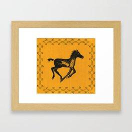 yellow foal Framed Art Print