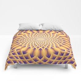 LOTUS FLOWER MANDALA salmon violet Comforters