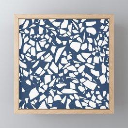 Terrazzo Navy Framed Mini Art Print