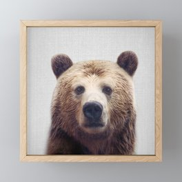 Bear - Colorful Framed Mini Art Print