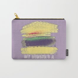 Veggie Burger (purple) Carry-All Pouch