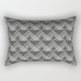 Modern Simple Geometric 5 in Charcoal Grey Rectangular Pillow