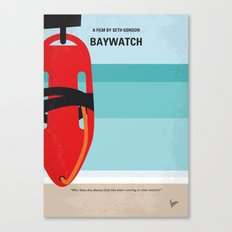 No730 My Baywatch minimal movie poster Canvas Print