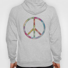 flourish decorative peace sign Hoody