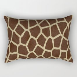 primitive safari animal brown and tan giraffe spots Rectangular Pillow