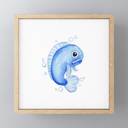 Fishy Framed Mini Art Print