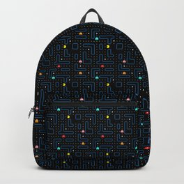Pac-Man Retro Arcade Video Game Pattern Design Backpack