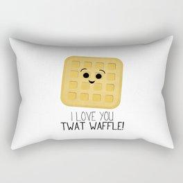 I Love You Twat Waffle Rectangular Pillow