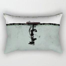 Ship boat oil spill sea Rectangular Pillow
