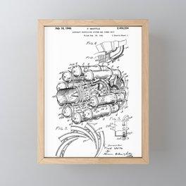 Jet Engine: Frank Whittle Turbojet Engine Patent Framed Mini Art Print