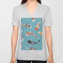 Koi Fish Pond Unisex V-Neck