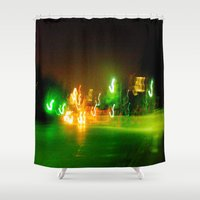 austin Shower Curtains featuring Austin Lights by Robert McHugh