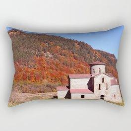 ancient temple in the Caucasus Rectangular Pillow
