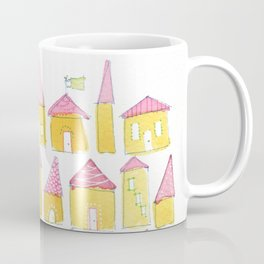 Yellow Houses & Pink Roofs Coffee Mug