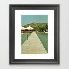The Pontoon Framed Art Print