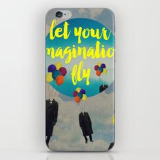 Vintage Quotes Collection -- Let Your Imagination Fly iPhone & iPod Skin