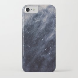 Blue Clouds, Blue Moon iPhone Case