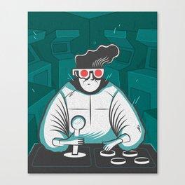 arcade nerd Canvas Print