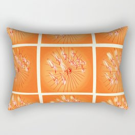 Taking Flight - Orange Yellow and Red Palette Rectangular Pillow