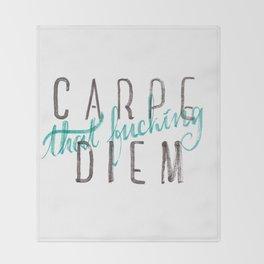 Carpe Diem Throw Blanket