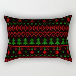 3 Knitted Christmas pattern in retro style pattern Rectangular Pillow