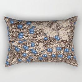 Peacock Feather Prints Rectangular Pillow