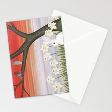 psychedelic spring scene Stationery Cards