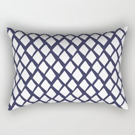 Rhombus White And Blue Rectangular Pillow