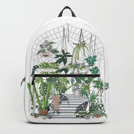greenhouse illustration Backpack
