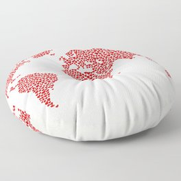 Love, You Are My World Floor Pillow