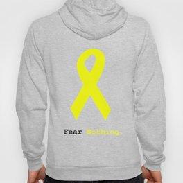 Fear Nothing: Yellow Awareness Ribbon Hoody
