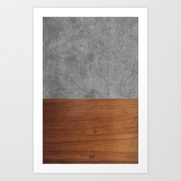 Concrete and Wood Luxury Art Print