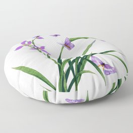 Butterflies and flowers Floor Pillow