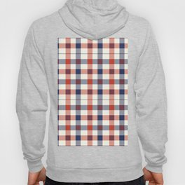 Plaid Red White And Blue Lumberjack Flannel Hoody
