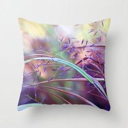 pretty grasses Throw Pillow
