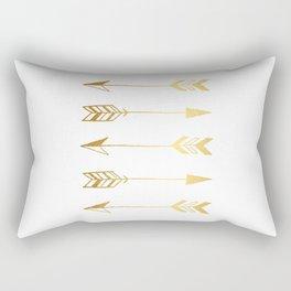 Faux gold foil arrows Rectangular Pillow