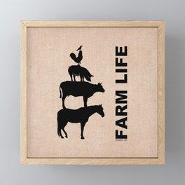 FARM LIFE Framed Mini Art Print