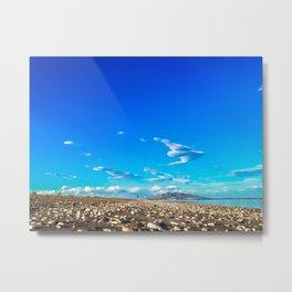 idyllic beach full of stones Metal Print