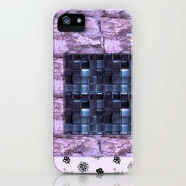 texture for interior decoration purple iPhone Case