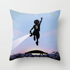Green Lantern Kid Throw Pillow