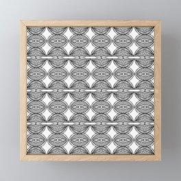 African ethnic geometric pattern 1 Framed Mini Art Print